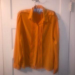 Vintage marigold button up blouse